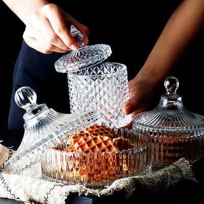 Crystal Glass Storage Jars-Storage-Estilo Living-Select-Select-Estilo Living