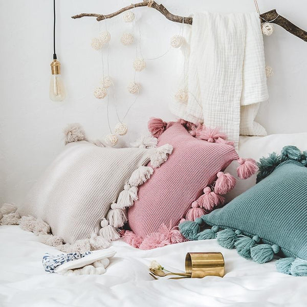 Daisy Knit Cushion Cover Collection-Bed Cover Sets Collection-Estilo Living
