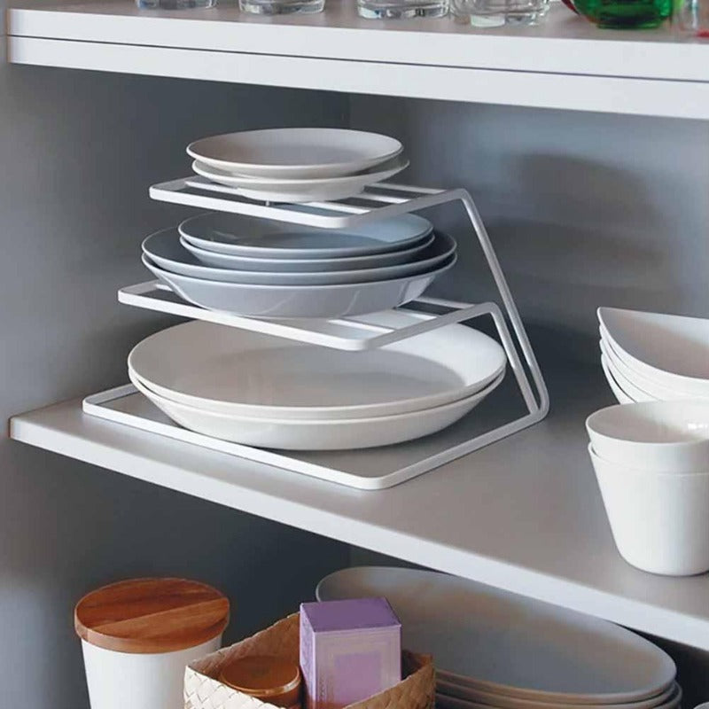 Dual-Tiered Plate Dish Rack and Organizer-Kitchen Racks Collection-Estilo Living