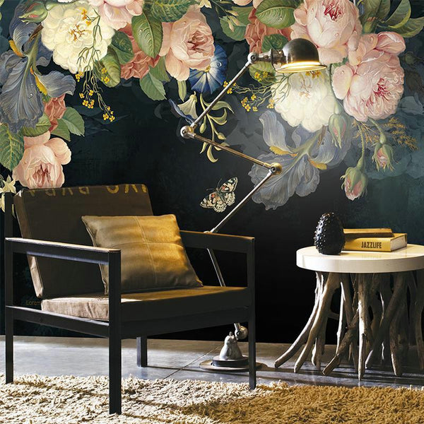 Garden Art Mural Wallpaper Decal-Wallpaper for Living Room Collection-Estilo Living