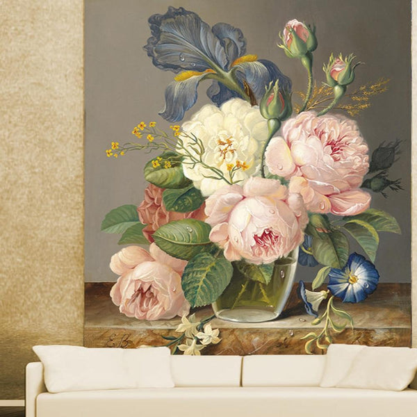 Garden Bouquet Mural Wallpaper Decal-Wallpaper for Living Room Collection-Estilo Living