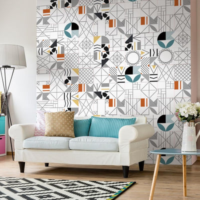 Geometric Chic Designer Tile Decals Set-Tile Decals For Bathroom-Estilo Living