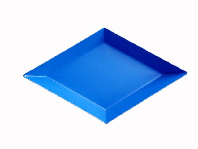 Geometric Stainless-Steel Display Trays-Kitchen-Estilo Living-Blue-Small-Estilo Living