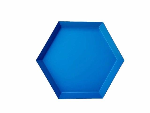 Geometric Stainless-Steel Display Trays-Kitchen-Estilo Living-Blue-Medium-Estilo Living