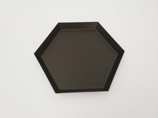 Geometric Stainless-Steel Display Trays-Kitchen-Estilo Living-Black-Medium-Estilo Living