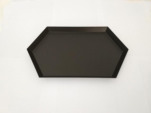 Geometric Stainless-Steel Display Trays-Kitchen-Estilo Living-Black-Large-Estilo Living