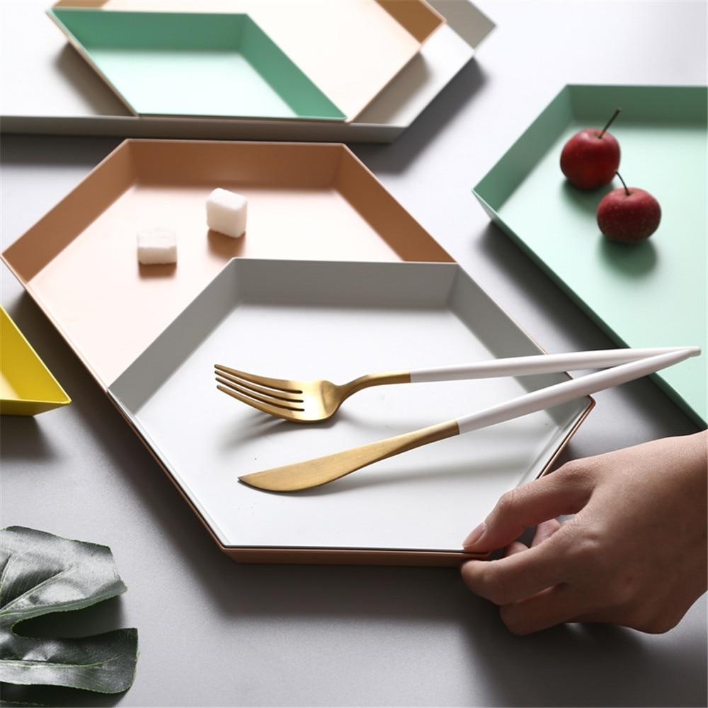 Geometric Stainless-Steel Display Trays-Kitchen-Home Decor products-Estilo Living