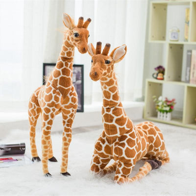 Giraffe Realistic Bendable Plush Toy-Children Toys Collection-Estilo Living