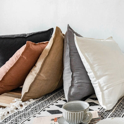 The Pure Cushion Cover Collection | Linen Cushion Covers | Boho Cushions | Linen Pillows | Eco-friendly Home Decor | Estilo Living