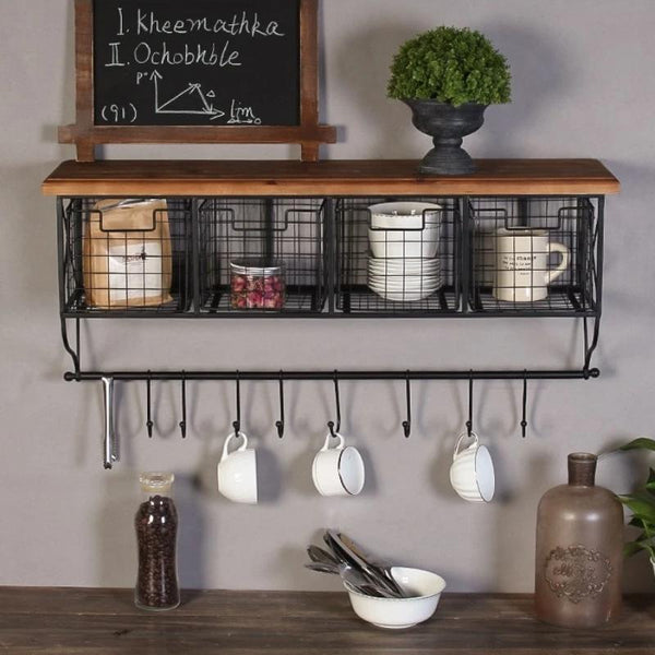 Industrial Grid Storage Shelves-Storage-Estilo Living-Style A size Large-Estilo Living