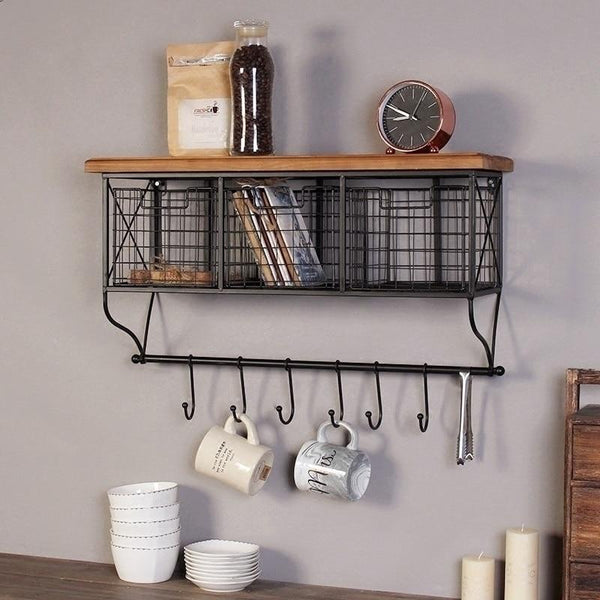 Industrial Grid Storage Shelves-Storage-Estilo Living-Style A size Small-Estilo Living
