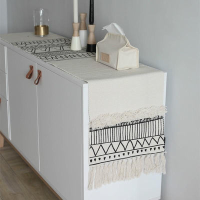 Jarina Moroccan Fringe Table Runner | Tableware | Table Linen | Cotton Table Runners | Bohemian Table Runners | Estilo Living
