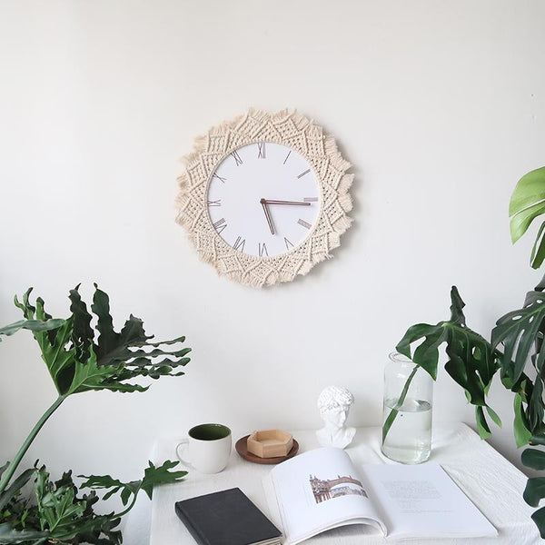 Macrame Wall Clocks Collection-Home Decor Collection-Estilo Living