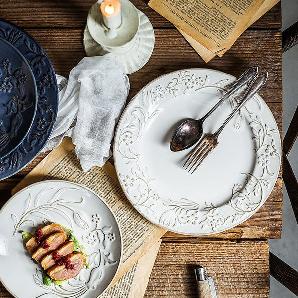 Manoir Dining Plates Collection-Dining Room Sets-Estilo Living