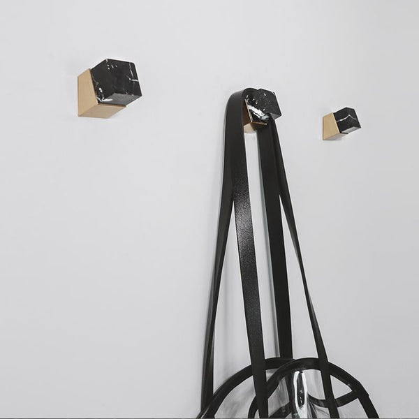Marble Brass Hooks-Storage-Wall Hooks Decorative Collection-Estilo Living