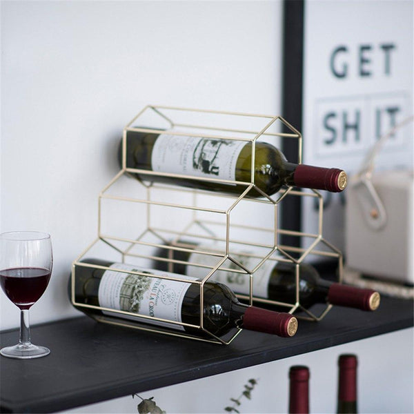 Modern Geometric Bottle Rack-Kitchen-Home Decor-Estilo Living