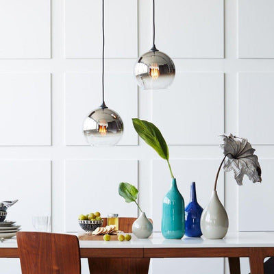 Modern Loft Luminaire Pendant Lights | Hanging Glass Pendant Lights | Metallic Ombre Glass Pendants| Estilo Living