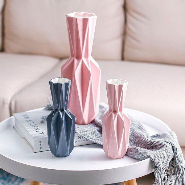 Modern Origami Ceramic Tabletop Vases-Home Decor-Estilo Living
