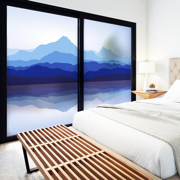 Mountain Sea Designer Glass Decals-Designer Decal-Estilo Living-Estilo Living