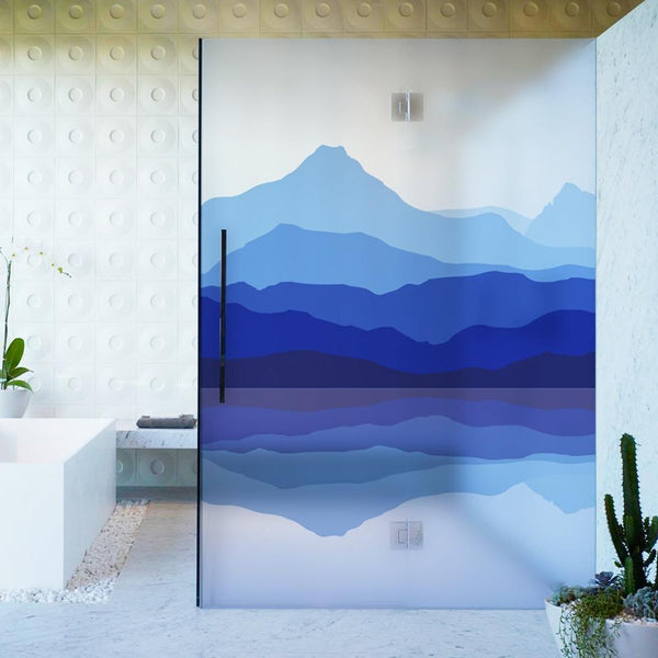 Mountain Sea Designer Glass Decals-Designer Decal-Estilo Living-Select-Estilo Living