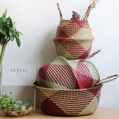 Natural Seagrass Storage & Planter Baskets-Storage Baskets Decorative Collection-Estilo Living