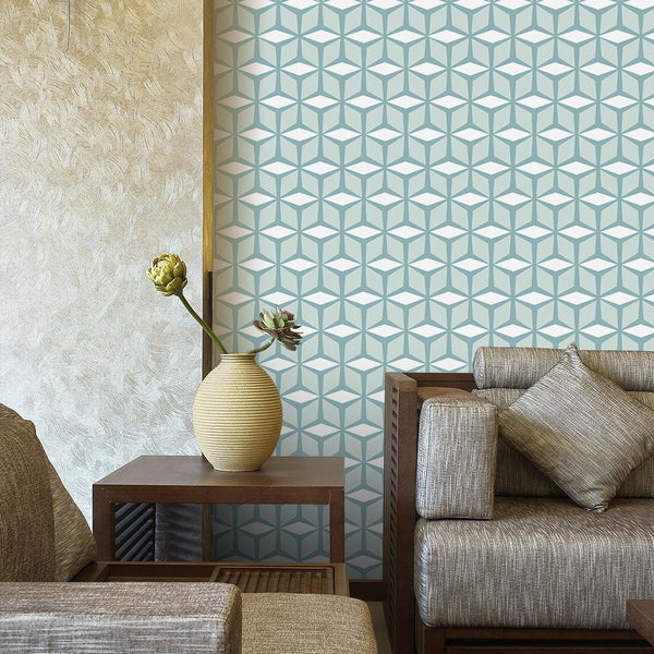 Nordic Cubism Designer Wallpaper Decals-Wallpapers for Living Room-Estilo Living