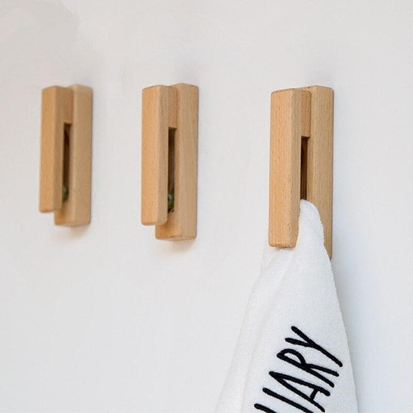 Nordic Wooden Towel Rack-Towel Holders for Bathroom-Estilo Living