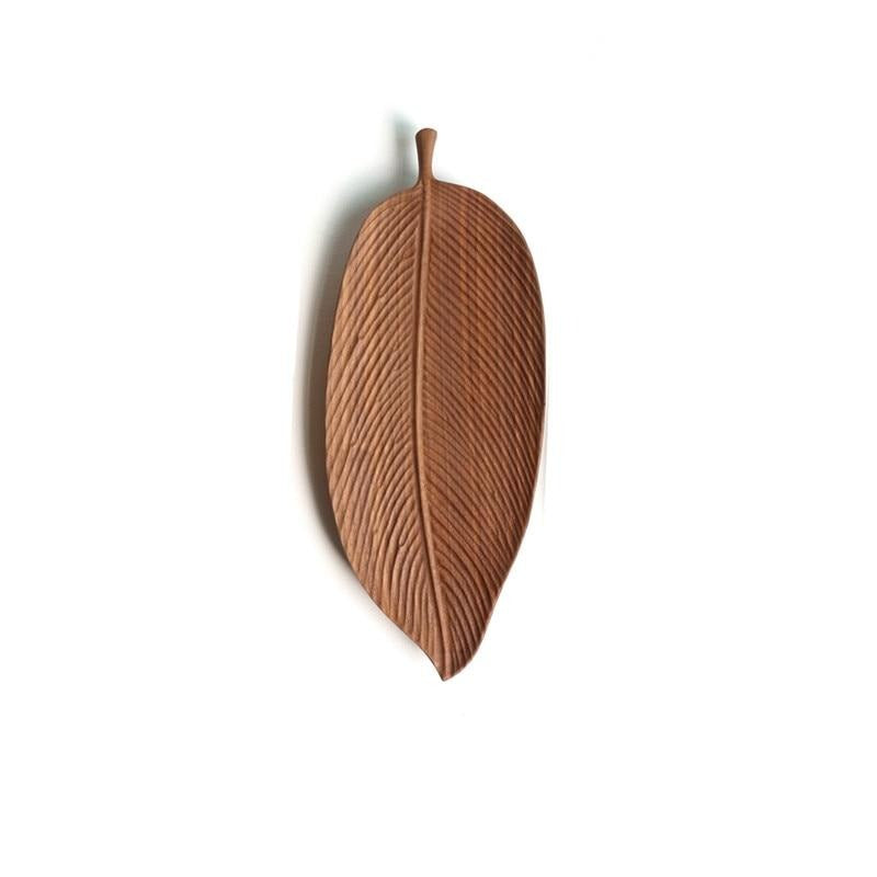 Oriental Leaf Wooden Serving Trays-Kitchen-Estilo Living-Curved Leaf - Medium-Estilo Living