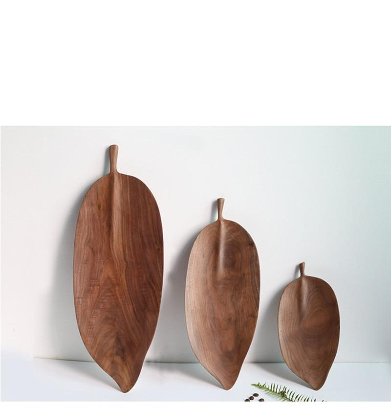Oriental Leaf Wooden Serving Trays-Kitchen-Estilo Living-Estilo Living