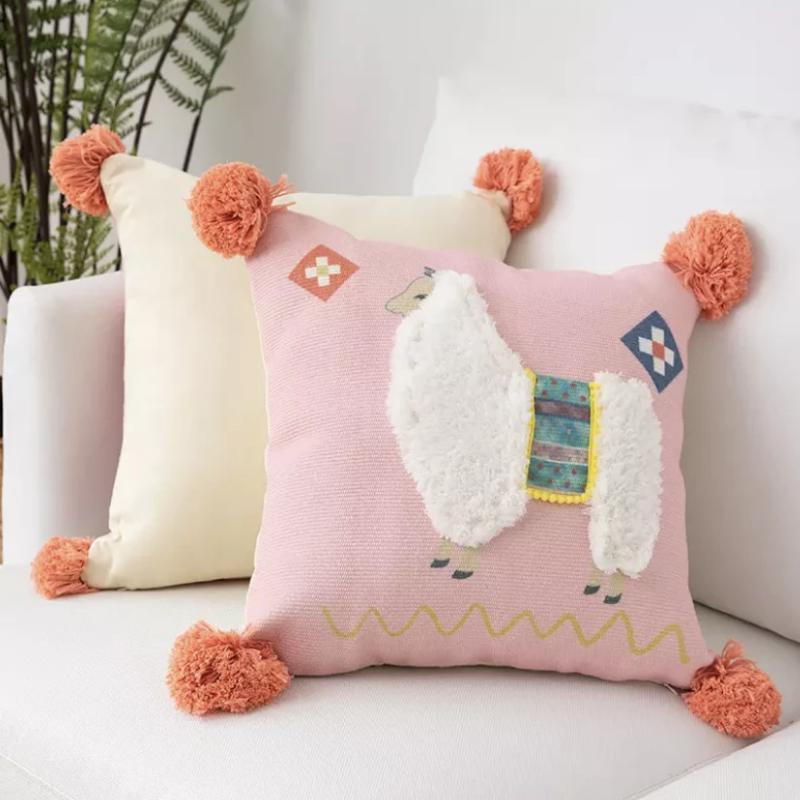 Peruvian Cushion Collection-Cushions-Estilo Living-Alpaca Pink-Estilo Living