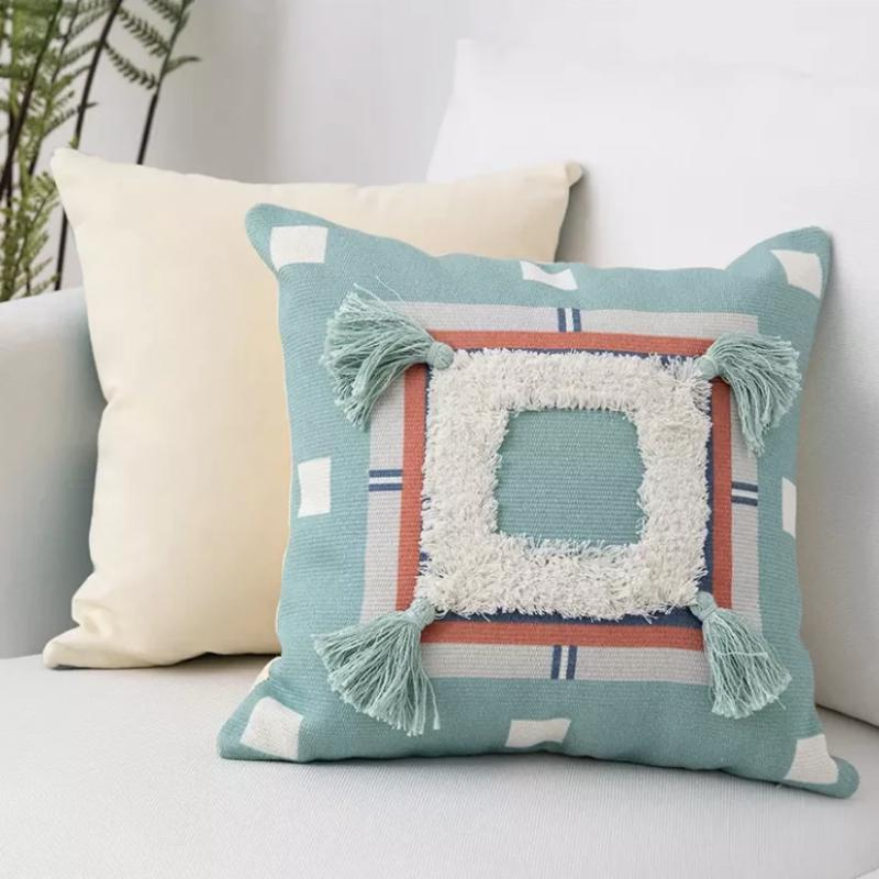 Peruvian Cushion Collection-Cushions-Estilo Living-Blue Aztec-Estilo Living