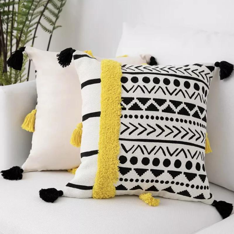 Peruvian Cushion Collection-Cushions-Estilo Living-Yellow Geometric-Estilo Living