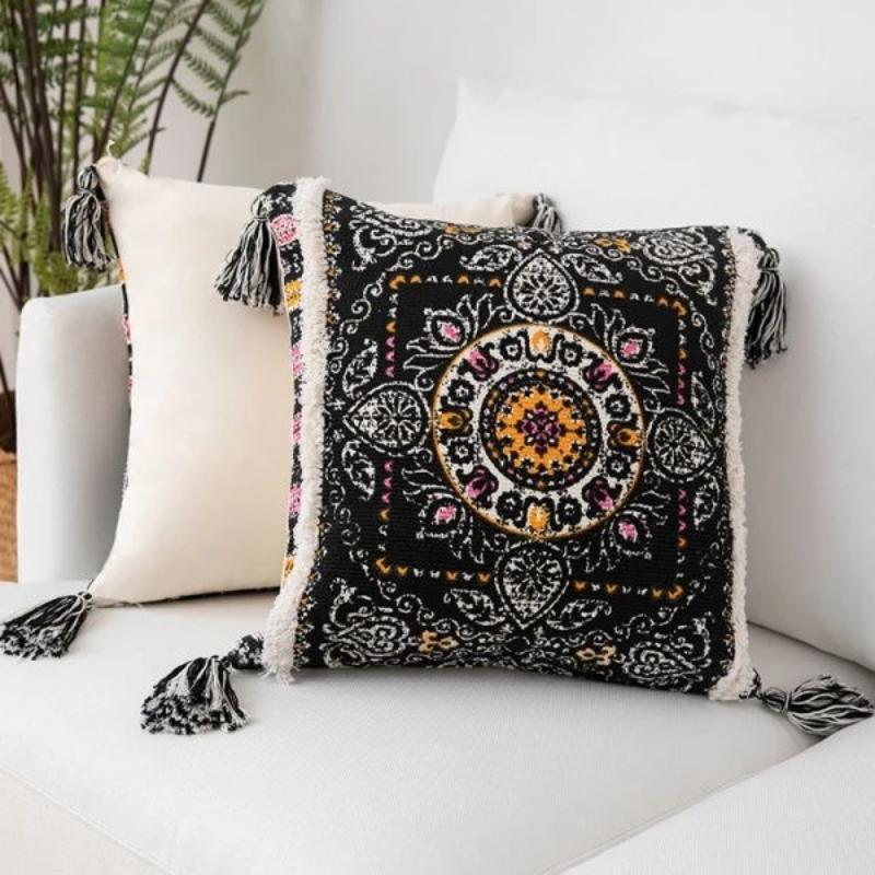 Peruvian Cushion Collection-Cushions-Estilo Living-Black Ruins-Estilo Living