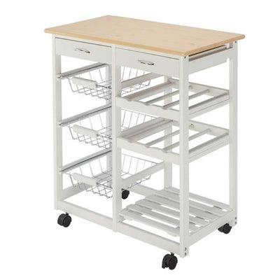 Charleston Kitchen Trolley Cart on Wheels | Kitchen Storage | Kitchen Space Savers | Kitchen Countertop | Estilo Living