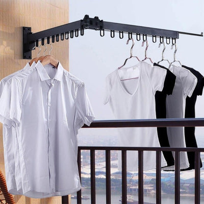 Foldable Wall-Mounted Clothes Hanging Rack | Clothes Hangers | Laundry Storage | Space Saving Ideas and Products | Estilo Living