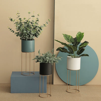 Fleur Flower Pot Stands | Planter Pot and Stand | Metal Planter Pot Stands | Planter Pots | Nordic Planters | Home Decor | Estilo Living