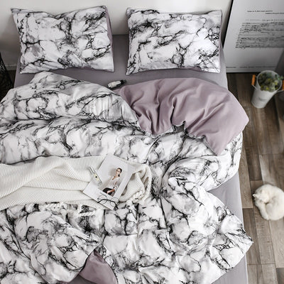 Nuvola Marble Duvet Cover Set | Bedding | Quilts | Marble Bedspread | Estilo Living