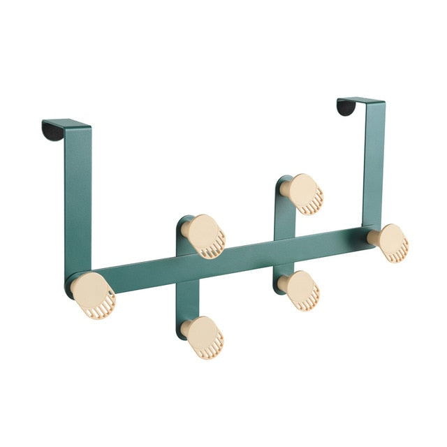 Nordic Iron Six-Hook Door Mounted Storage Rack