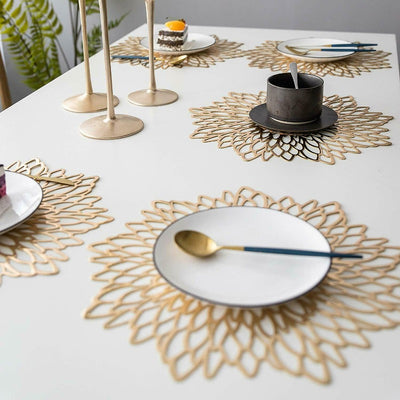 Metallic Floral PVC Placemats | Tableware | Table Settings | Decorative Placemats | Estilo Living