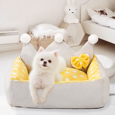 The Darling Dog Sofa Bed & Plush Dog Nest | Dog Mattress | Pet Mattress | Cat Mattress | Dog Sofa | Pet Sofa | Dog Beds | Frilly Dog Beds | Princess Dog Beds | Estilo Living