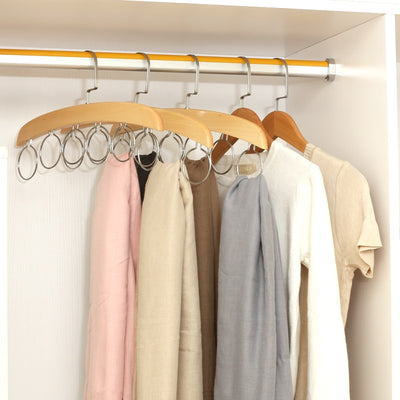 Two Pack of Tie & Belt Storage Hangers | Wardrobe Storage | Wooden Wardrobe Hangers | Estilo Living