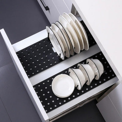 Expandable Kitchen Drawer Organizer | Dish Drying Rack | Kitchen Storage | Countertop Storage | Racks | Estilo Living