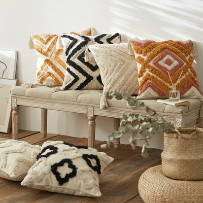 Emery Embroided Cushion Cover Collection | Throw Pillow Covers | Boho Cushions | Coastal Boho | Estilo Living