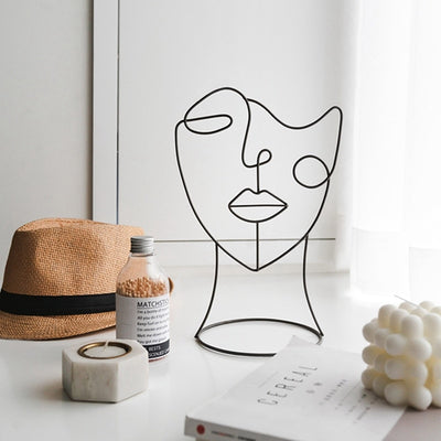 Abstract Decor Sculptures and Hat Holders | Hat Stand | Hat Racks | Abstract Home Decor | Wig Holder | Wig Rack | Abstract Figurine | Estilo Living