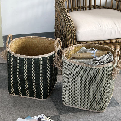 Adaliya African Handwoven Woven Baskets | Tribal Baskets | Straw Baskets | Woven Planter Pots | Woven Storage Baskets | Stylish Storage | Living Room Storage | Estilo Living