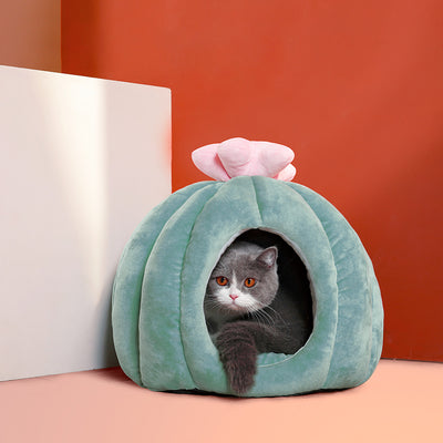 Cactus Cat Cave Nest Bed with Cushion | Cat Beds | Pet Beds | Pet Caves | Plush Cat Beds | Estilo Living