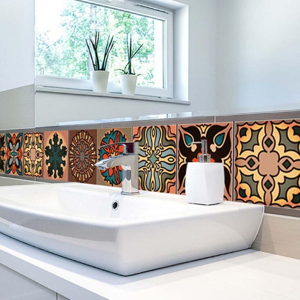 Bold Moroccan Mosaic Tile Decal Strips