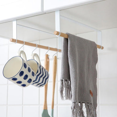 Kitchen Storage Hanger Rack with Hooks | Kitchen Countertop Storage | Hanging Racks | Estilo Living