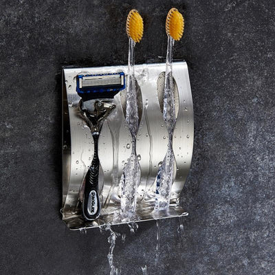 Rustproof Razor and Toothbrush Holder | Bathroom Storage | Razor Organizer | Estilo Living