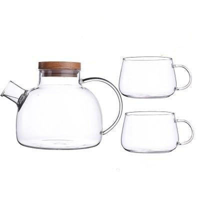 Scandinavian Glass Teapot Set-Kitchen-Estilo Living-Set A-Estilo Living